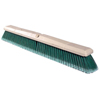 cleaning chemicals, brushes, hand wipers, sponges, squeegees: Weiler - Perma-Sweep Floor Brush, 24In Foam Block, 3In Trim L, Flagged Green Polystyrene