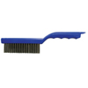 Weiler Shoe Handle Scratch Brushes, 11 In, 4X16 Rows, Stainless Steel Wire, Wood Handle WEI 804-44299