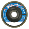 Weiler Type 29 Tiger Paw Angled Flap Discs, 4 1/2, 80 Grit, 7/8 Arbor, 13,000 RPM WEI 804-51121