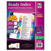 avery: Avery® Ready Index® Contemporary Multicolor Table of Contents Dividers