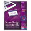 Avery Avery® Name Badge Inserts AVE 5390
