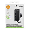 Belkin Belkin® USB 3.0 Hub with Gigabit Ethernet Adapter BLK B2B128TT