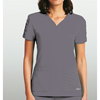 womens tees: Barco - KD110™ Lexi Shirred Short Sleeve Scrub Top