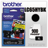 Brother Brother LC65HYBK (LC-65HYBK) Innobella High-Yield Ink, 900 Page-Yield, Black BRT LC65HYBK
