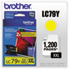 Brother Brother LC79Y (LC-79Y) Innobella Super High-Yield Ink, 1,200 Page-Yield, Yellow BRT LC79Y