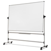 Bi-Silque MasterVision® Earth Silver Easy Clean Mobile Revolver Dry Erase Boards BVC RQR0221