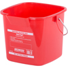 Carlisle 3 qt Square Steri-Pail - Red CFS 1182805CS