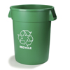 waste receptacles: Carlisle - Bronco™ Round Recycling Cans