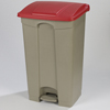 Carlisle 12 Gal Step-On Container-Red CFS 34614405EA