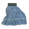 Carlisle Premium Medium Blue Yarn Mop Heads with Green Band CFS 369448B14CS
