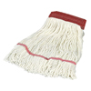 Carlisle Economy Large Natural Yarn Mop Heads with Red Band CFS 369552B00CS