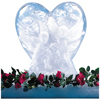 Carlisle Ice Sculptures Heart - White CFS SHR102CS