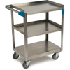 utility carts, trucks and ladders: Carlisle - 3 Shelf Stainless Steel Utility Cart