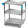 Janitorial Carts, Trucks, and Utility Carts: Carlisle - 3 Shelf Stainless Steel Utility Cart