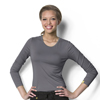 womens tees: WonderWink - Silky Long Sleeve Viscose Rayon Tee