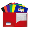 C-Line Products 2-Pocket Heavyweight Poly Portfolio Folder, Primary Colors CLI 33950BNDL18EA