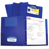 C-Line Products 2-Pocket Heavyweight Poly Portfolio Folder w/Prongs, Blue CLI 33965BNDL12EA