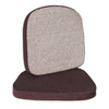 C-Line Products Chair Cushion, 2, Brown, 17 1/2 x 18 CLI 55512