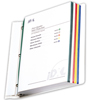 C-Line Products Colored Edge Sheet Protectors, Assorted Colors, 11 x 8 1/2 CLI 62000