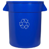 waste receptacles: Continental - Huskee™ Round Recycling Receptacles