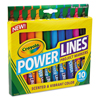 Crayola Crayola® Powerlines Washable Project Markers with Scents CYO 588194