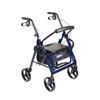 rollers & rollators: Drive Medical - Duet Transport Wheelchair Walker Rollator
