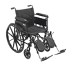 wheelchairs: Drive Medical - Cruiser X4 Lightweight Dual Axle Wheelchair with Adjustable Detatchable Arms