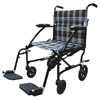 Drive Medical Fly Lite Ultra Lightweight Plaid Transport Wheelchair DFL19-BLK