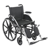 Drive Medical Viper Wheelchair with Flip Back Removable Arms L420DDA-ELR