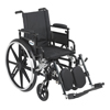 Drive Medical Viper Plus GT Wheelchair with Flip Back Removable Adjustable Arm PLA416FBDAARAD-ELR