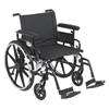 Drive Medical Viper Plus GT Wheelchair with Flip Back Removable Adjustable Arm PLA422FBFAAR-SF