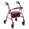 Drive Medical Breast Cancer Awareness Adjustable Height Rollator DRV RTL10261BC