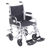 Drive Medical Poly Fly Light Weight Transport Chair Wheelchair with Swing away Footrest TR18