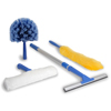 cleaning chemicals, brushes, hand wipers, sponges, squeegees: Ettore - Reach Window Cleaning & Dusting Kit