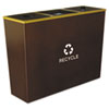 Ex-Cell Ex-Cell Metro Collection™ Recycling Receptacle EXC RCMTR3HCP