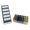 Rehabilitation: Fabrication Enterprises - Digi-Flex Multi Small Clinic Pack, Deluxe (5 Bases Plus 32 Button Sets In Case w/Rack)