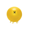"Rehabilitation: Fabrication Enterprises - CanDo® Inflatable Exercise Ball - with Stability Feet - Yellow - 18"" (45 cm)"