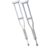 "rehabilitation devices: Fabrication Enterprises - Underarm Adjustable Aluminum Crutch, Adult (5' 2"" - 5' 10""), 1 Pair"