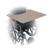 Fabrication Enterprises Wheelchair Trays - Gray Plastic - 24 W x 20 D x 1/2 H FNT 43-2293