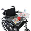 Fabrication Enterprises Wheelchair Tray Clear Acrylic with Rim and Straps FNT 50-1302