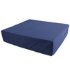 "Wheelchair Parts Accessories Foam Wheelchair Cushions: Fabrication Enterprises - Wheelchair Cushion with Removable Cover, Foam, 16"" x 18"" x 4"" Navy Color"