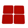 Fabrication Enterprises Dycem® Non-Slip Square Coasters, Set of 4, Red FNT 50-1670R