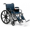 GF Health Traveler® LX Wheelchair, 18 x 16, Detachable Full Arm, Swingaway Footrest GHI 3E020140