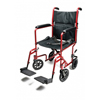 GF Health Lightweight Aluminum Transport Chair, 17, Red GHI EJ781-1