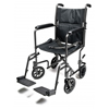 GF Health Steel Transport Chair, 19 Silver Vein GHI EJ796-1