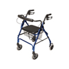 GF Health Lumex® Walkabout Lite Four-Wheel Rollator, Blue GHI RJ4300B