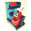Geerpres Ideabase Modular Plastic Cart - 101 Base Unit With Bucket And Wringer Combo GPS 101C