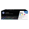 Hewlett Packard Hewlett Packard 304A, (CF340A) 3-pack Cyan/Magenta/Yellow Original LaserJet Toner Cartridges HEW CF340A