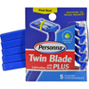 hgr: Personna - Disposable Razors with Lubricating Strip - Twin Blade Plus - 5 Pack