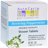 hgr: Aura Cacia - Reviving Aromatherapy Shower Tablets Peppermint - 3 Tablets